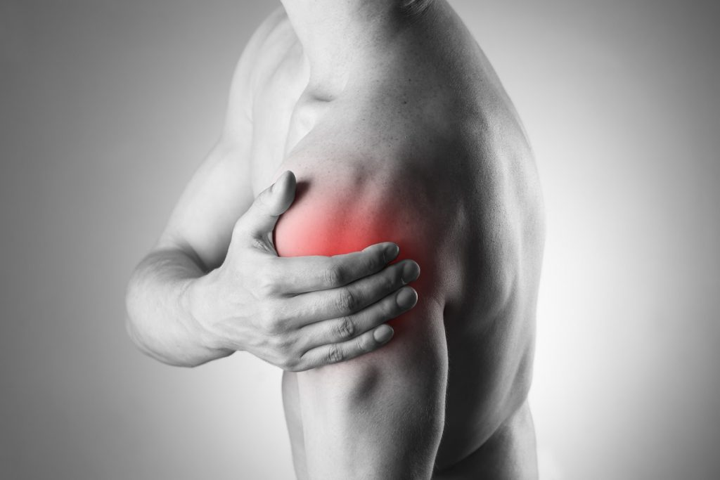 Shoulder pain that requires rehabilitation treatment
