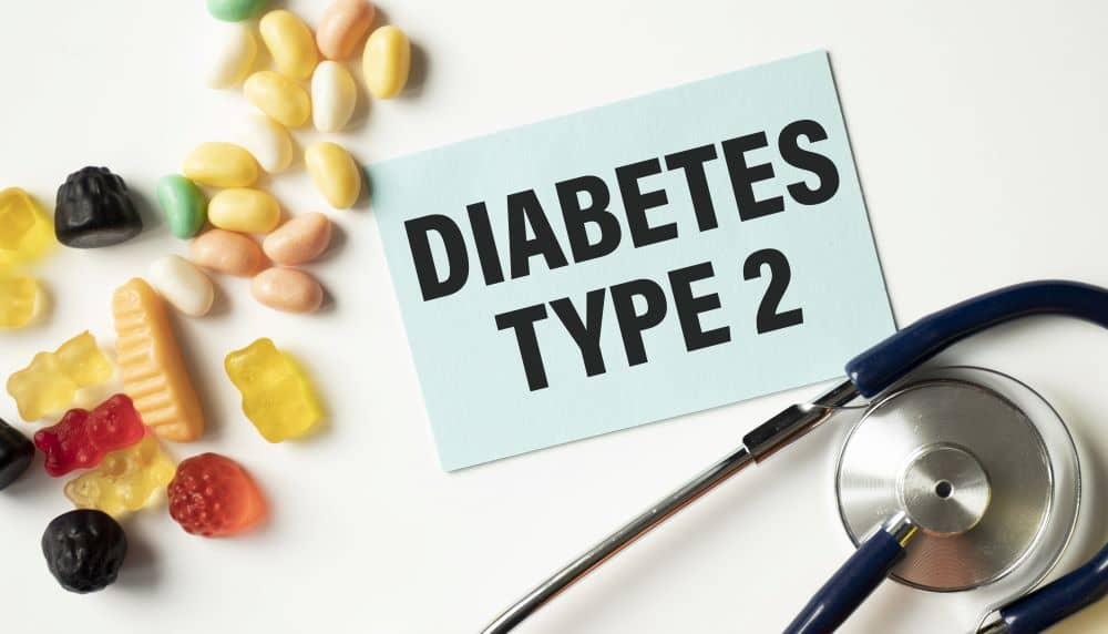 Type 2 diabetes affects the way the body uses insulin.